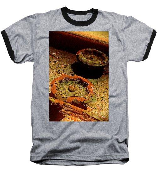 Baseball T-Shirt featuring the photograph Steel Flowers by James Aiken