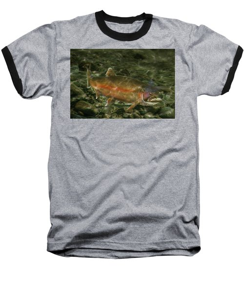 Steelhead Trout Spawning Baseball T-Shirt