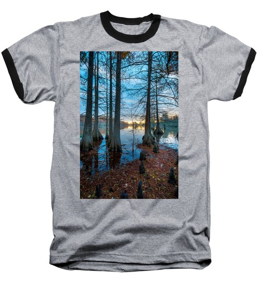 Steinhagen Reservoir Vertical Baseball T-Shirt