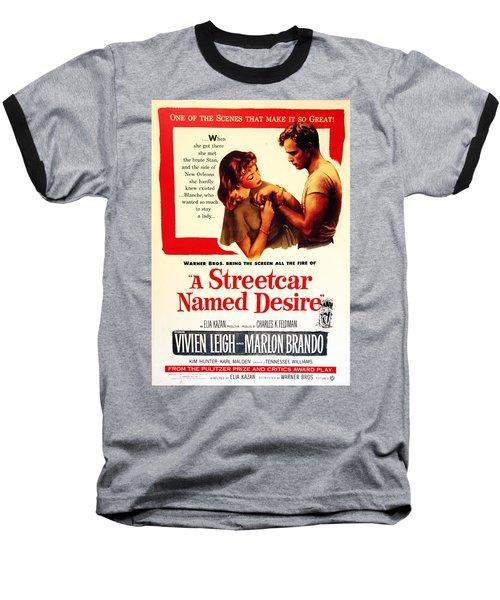 Stellaaaaa - A Streetcar Named Desire Baseball T-Shirt by Debbie Oppermann