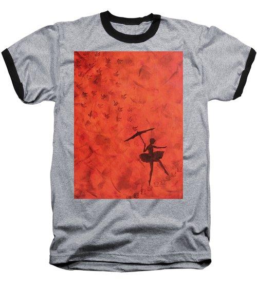 Stencil Ballerina Baseball T-Shirt