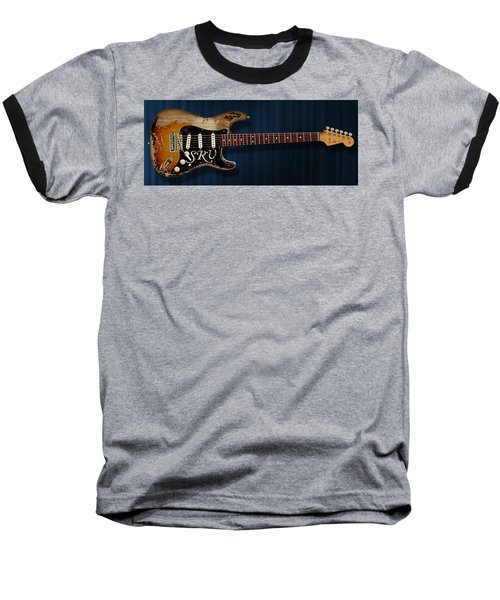 Stevie Ray Vaughan Stratocaster Baseball T-Shirt