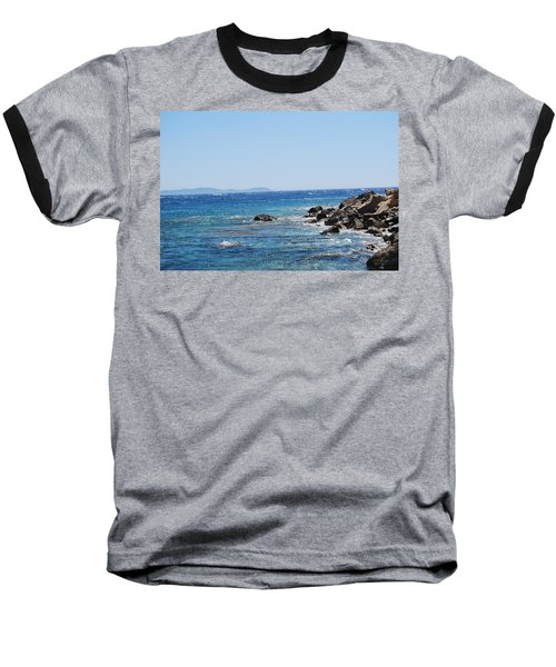 Baseball T-Shirt featuring the photograph Stiff Breeze by George Katechis