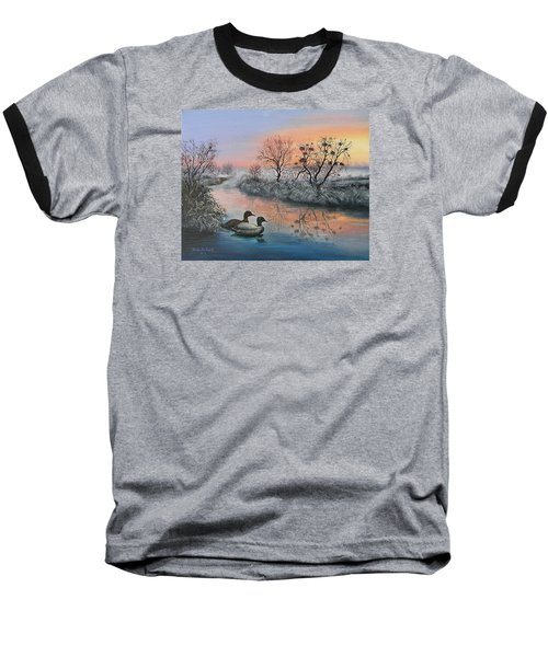 Baseball T-Shirt featuring the painting Still Beauty by Vesna Martinjak