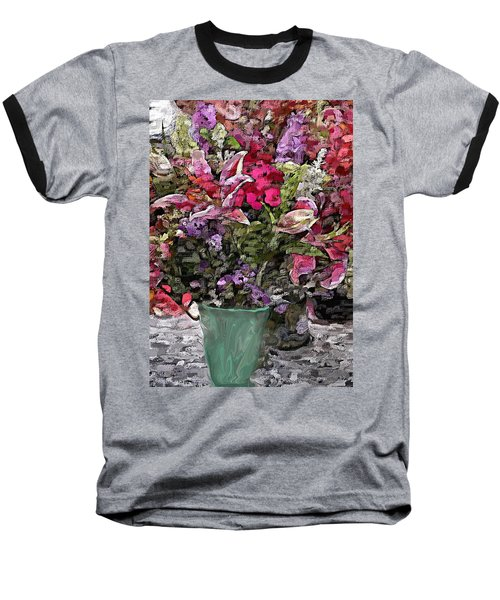 Baseball T-Shirt featuring the digital art Still Life Floral by David Lane