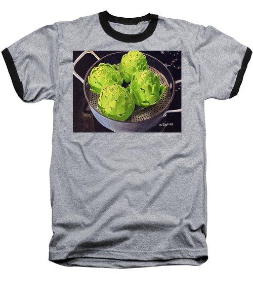 Still Life No. 6 Baseball T-Shirt by Mike Robles