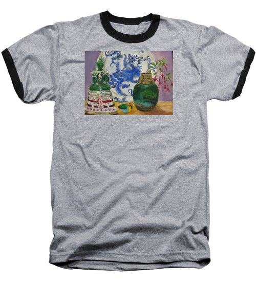 Still Life With Buddha Baseball T-Shirt