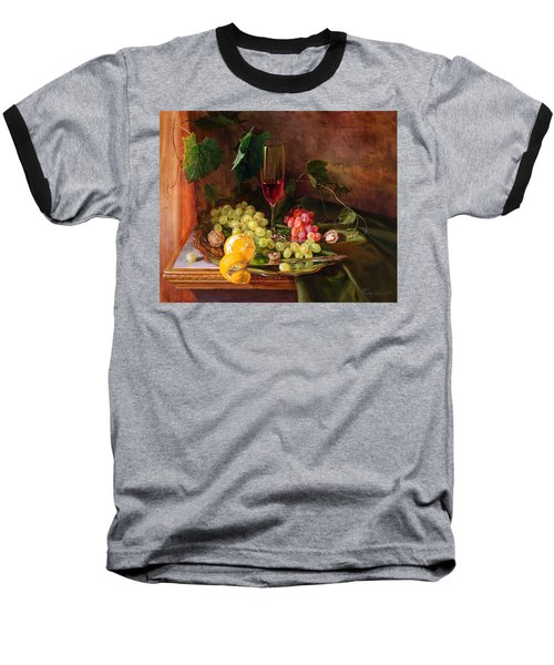 Still Life With Grapes And Grapevine Baseball T-Shirt
