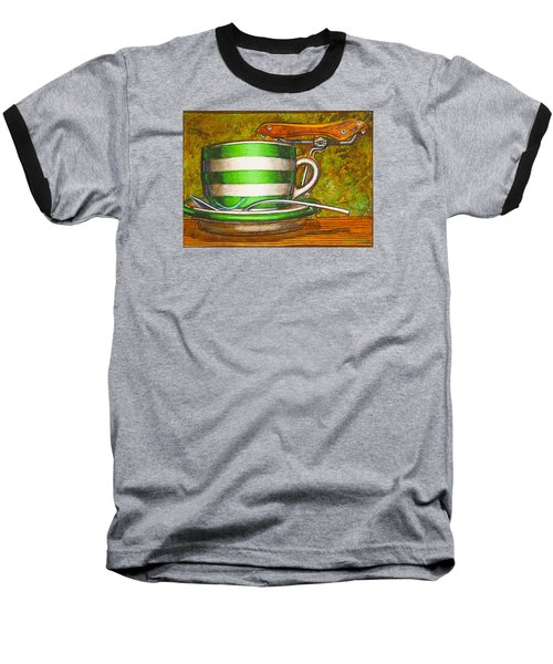 Still Life With Green Stripes And Saddle  Baseball T-Shirt by Mark Jones