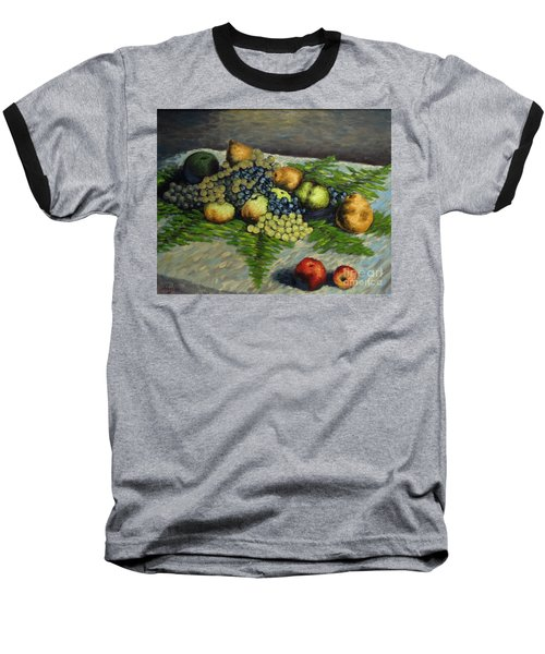 Still Life With Pears And Grapes Baseball T-Shirt