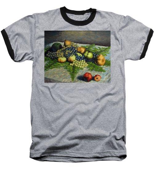 Still Life With Pears And Grapes Baseball T-Shirt