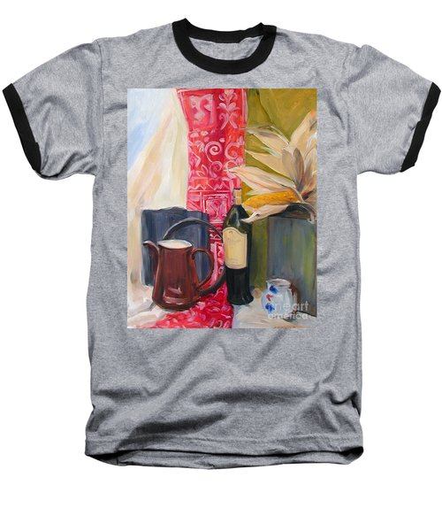 Still Life With Red Cloth And Pottery Baseball T-Shirt