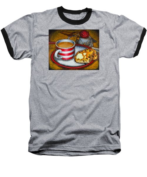 Baseball T-Shirt featuring the painting Still Life With Red Touring Bike by Mark Howard Jones