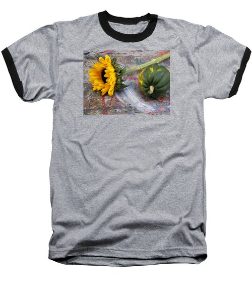 Still Life With Sunflower Baseball T-Shirt