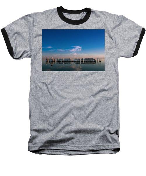 Still Water Baseball T-Shirt by Ralph Vazquez