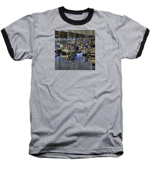 Baseball T-Shirt featuring the photograph Still Water Masts by Jean OKeeffe Macro Abundance Art