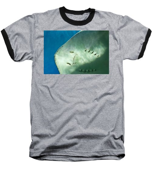 Baseball T-Shirt featuring the photograph Stingray Face by Eti Reid
