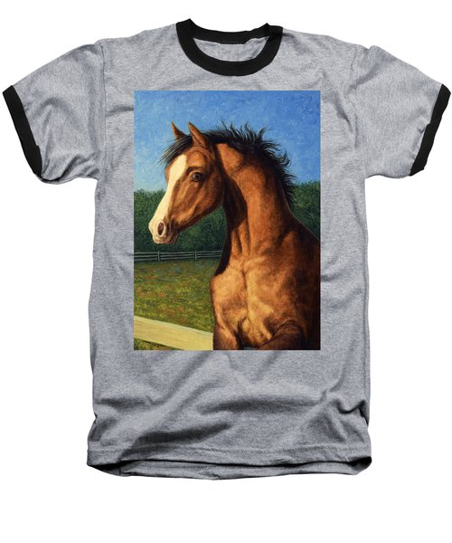 Baseball T-Shirt featuring the painting Stir Crazy by James W Johnson