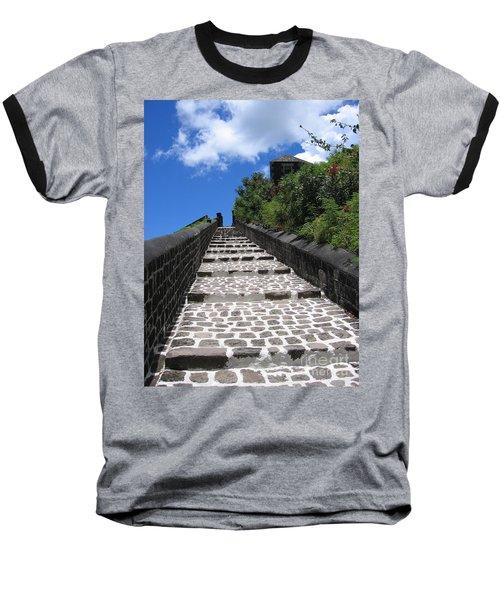 St.kitts - Ascent Baseball T-Shirt by HEVi FineArt