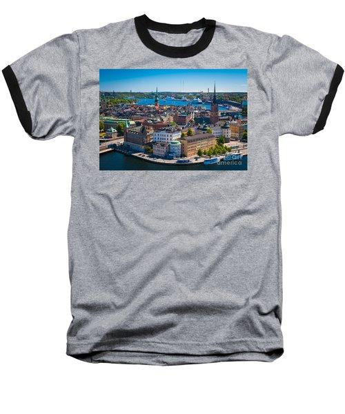 Stockholm From Above Baseball T-Shirt