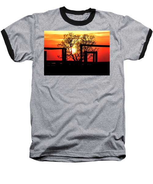 Stockyard Sunset Baseball T-Shirt