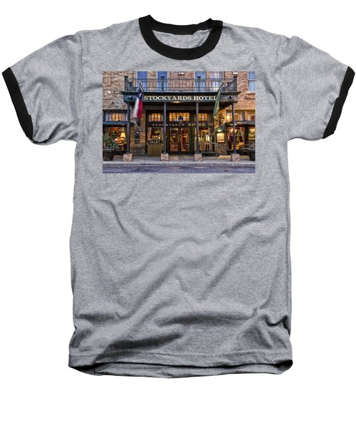 Stockyards Hotel Baseball T-Shirt