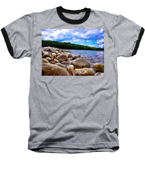 Stone Beach Baseball T-Shirt by Zafer Gurel