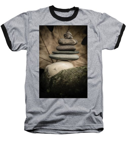 Stone Cairns Iv Baseball T-Shirt by Marco Oliveira