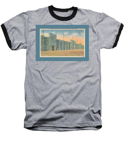 Stone Castle Bristol Tn Built By Wpa Baseball T-Shirt