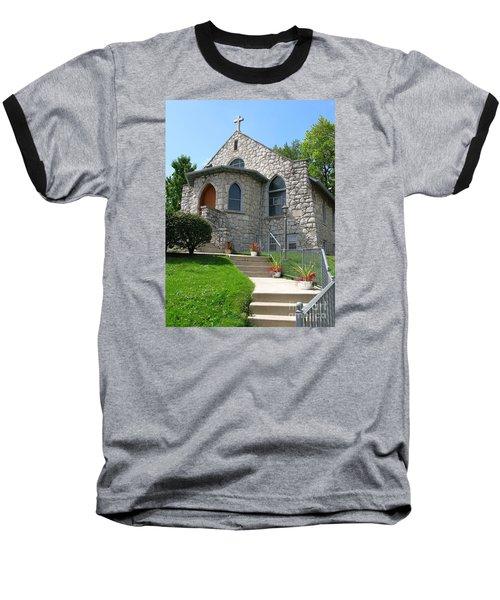 Stone Church Baseball T-Shirt by Ann Horn