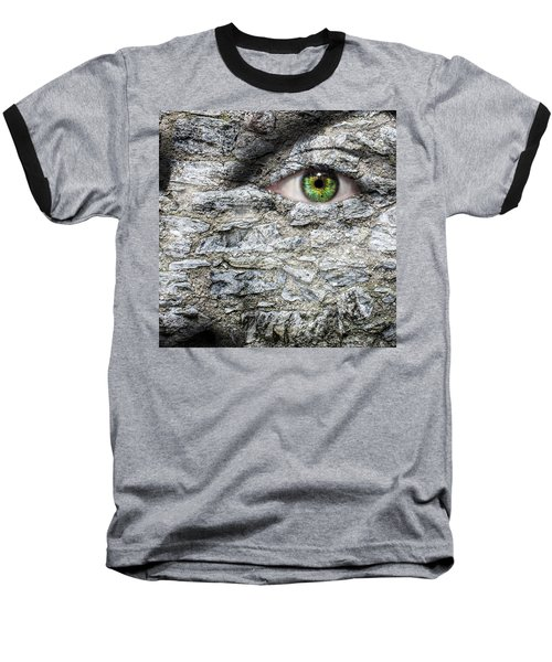 Stone Face Baseball T-Shirt by Semmick Photo