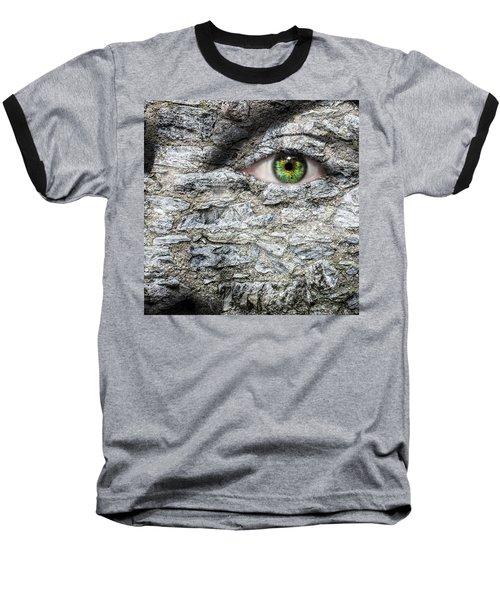 Stone Face Baseball T-Shirt by Semmick Photo