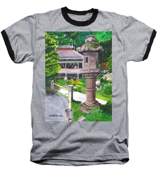 Stone Lantern Baseball T-Shirt by Mike Robles