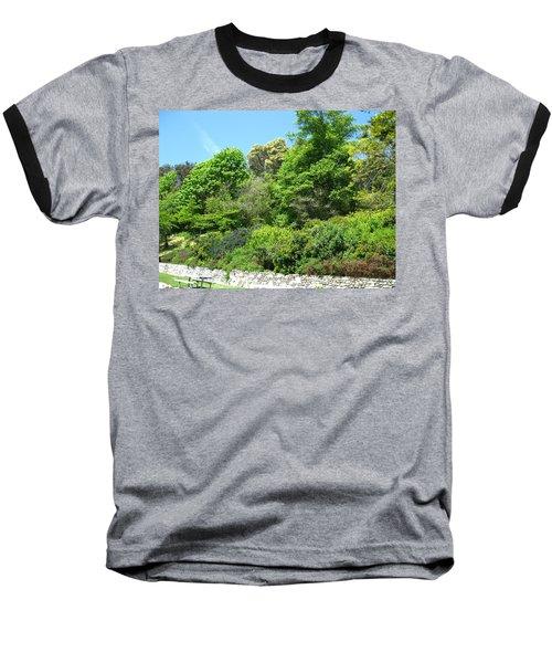 Stone Wall 2 Baseball T-Shirt by David Trotter