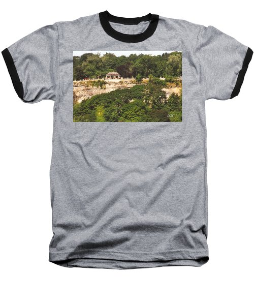 Stone Wall With Gazebo Baseball T-Shirt