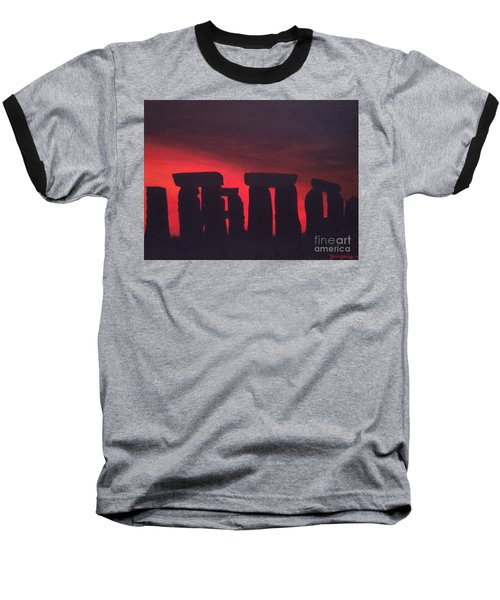 Stonehenge At Dusk Baseball T-Shirt
