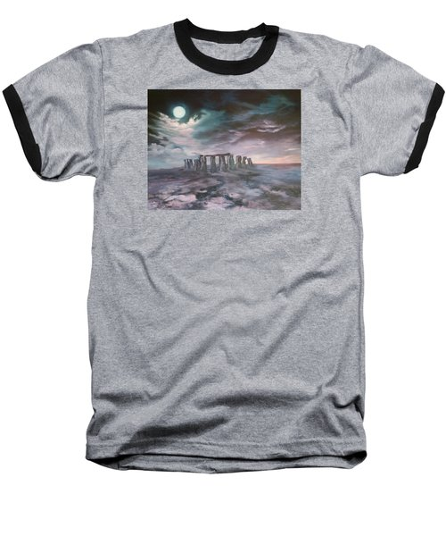 Stonehenge In Wiltshire Baseball T-Shirt by Jean Walker