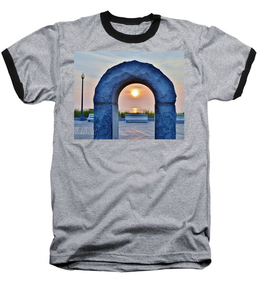 Sunrise Through The Arch - Rehoboth Beach Delaware Baseball T-Shirt
