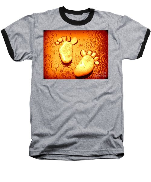 Baseball T-Shirt featuring the photograph Stoney In The Rain by Clare Bevan