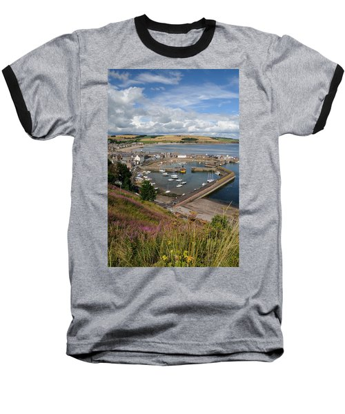 Stonhaven Harbour  Scotland Baseball T-Shirt by Jeremy Voisey