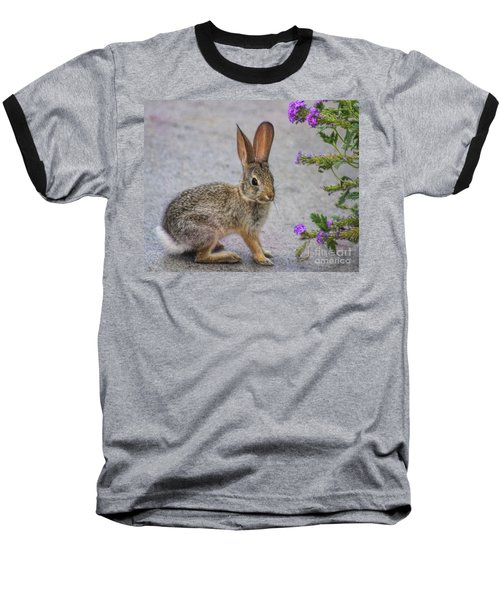 Baseball T-Shirt featuring the photograph Stop And Smell The Flowers by Tammy Espino