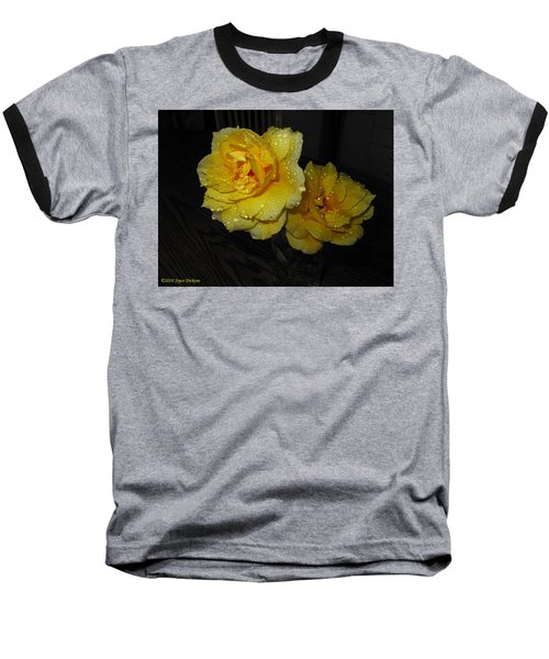 Stop And Smell The Roses Baseball T-Shirt by Joyce Dickens