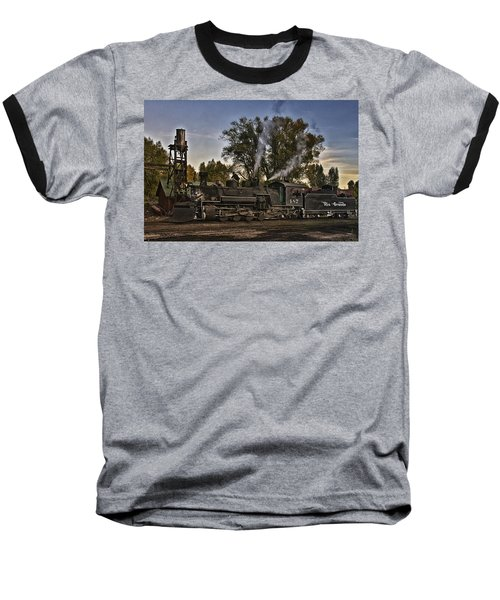 Baseball T-Shirt featuring the photograph Stopped At Chama by Priscilla Burgers