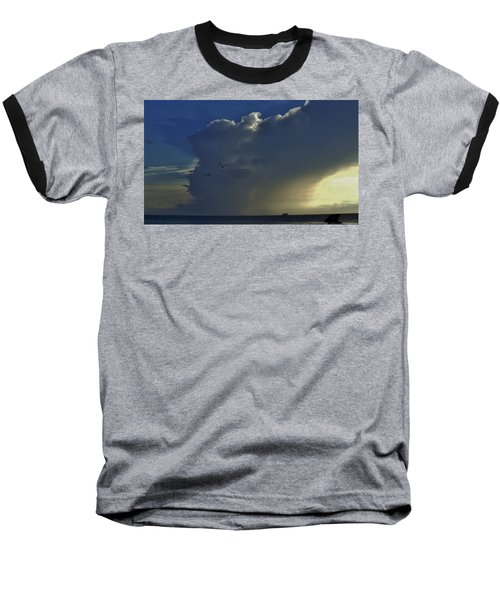 Baseball T-Shirt featuring the photograph Storm Across Delaware Bay by Ed Sweeney