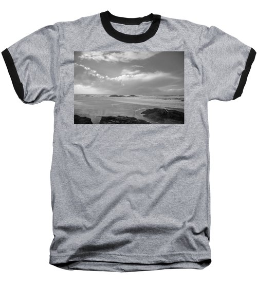 Storm Approaching Baseball T-Shirt by Roxy Hurtubise