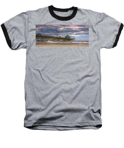 Storm Clouds Approaching - Hdr Baseball T-Shirt