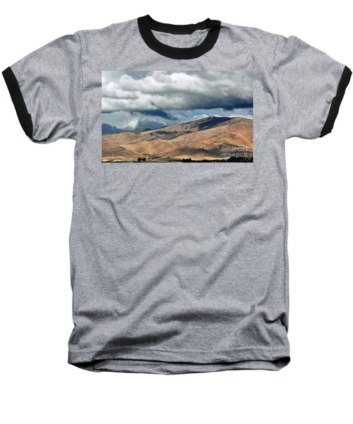 Storm Clouds Floating Above Mountains Baseball T-Shirt