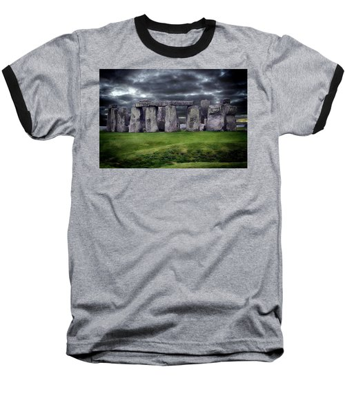 Storm Clouds Over Stonehenge Baseball T-Shirt