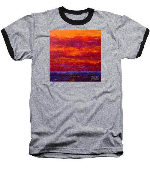 Storm Clouds Sunset Baseball T-Shirt by Gail Kent