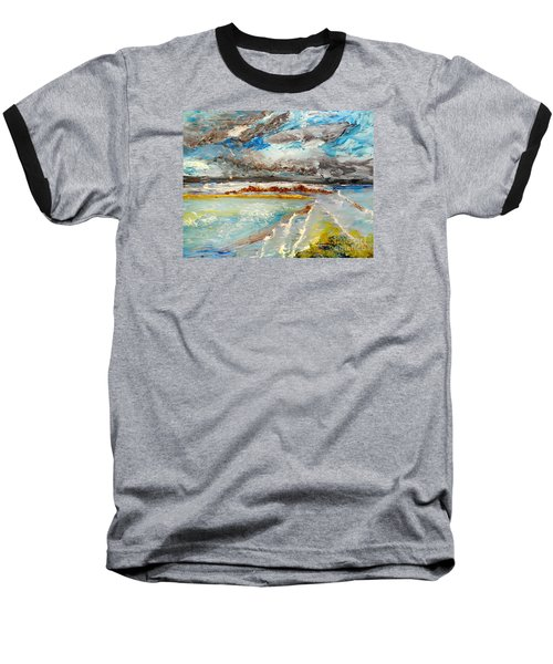 Storm Coming At Austinmer Beach Baseball T-Shirt